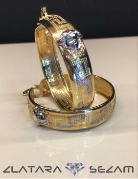 Alke od zutog zlata sa Versace motivima