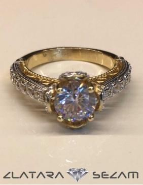 Verenicki prsten, rucni rad, zuto zlato