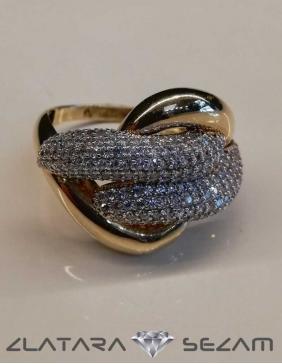 Prsten od žutog i belog zlata