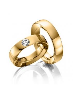 Burme od žutog zlata sa dijamantom