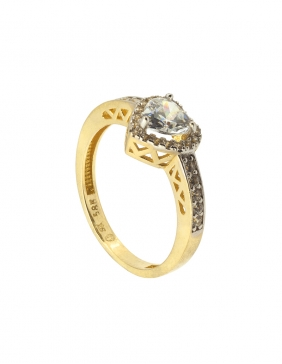 Verenički prsten srce sa dijamantima