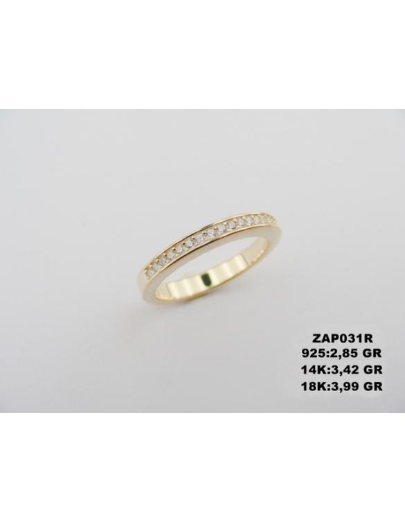 Prsten kombinacija zlata sa radom