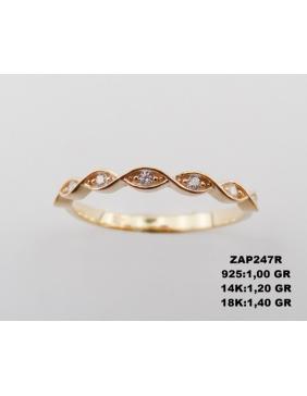 Prsten žuto zlato 585