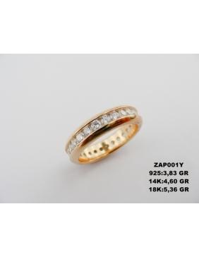 Prsten kombinacija zlata sa brilijantima
