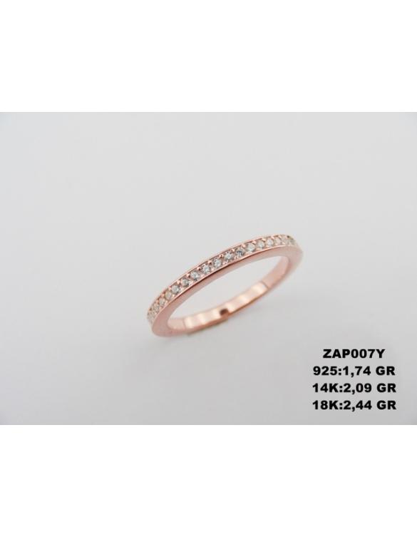 Prsten belo zlato sa kamenjem