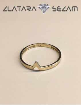 Simple prsten, zuto zlato