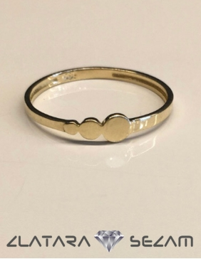 Prsten krug, zuto zlato