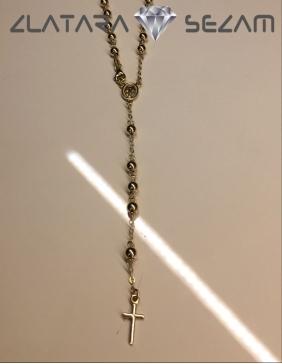 Ogrlica-brojanica, zuto zlato