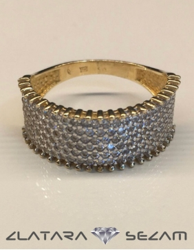 Prsten žuto zlato